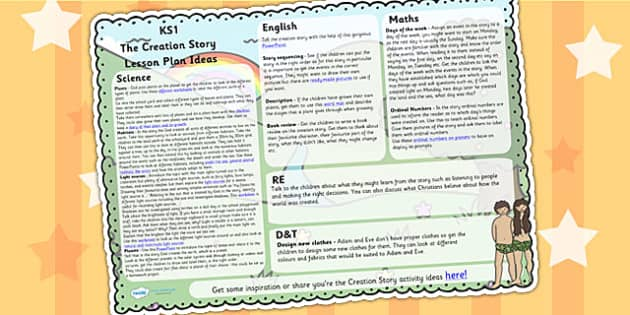 The creation story lesson plan ideas ks1 creation re for Creation plan