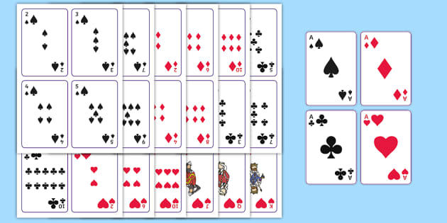 It's just a picture of Superb Playing Cards Printable