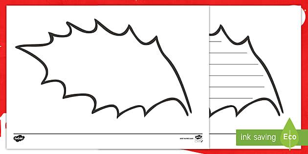 Holly Leaf Outline (teacher made)