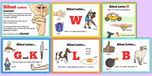 words with silent first letters spell some words with silent letters display posters 25764 | T2 E 1112 Spell Some Words with Silent Letters Rules Display Poster Pack ver 3