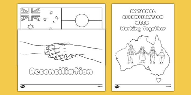 National Reconciliation Week Colouring Sheets And Posters