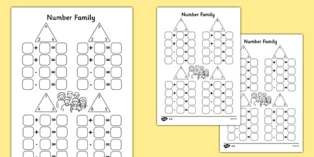 number family worksheet pack. Black Bedroom Furniture Sets. Home Design Ideas