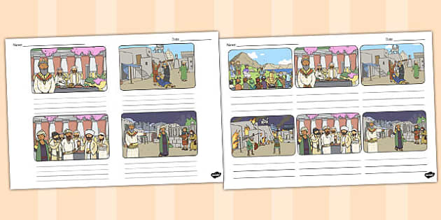 The Wedding Feast Storyboard Template Parables Wedding Feast