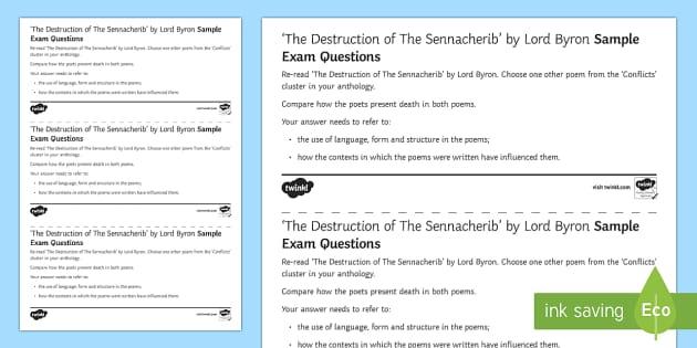 a literary analysis of the destruction of sennacherib