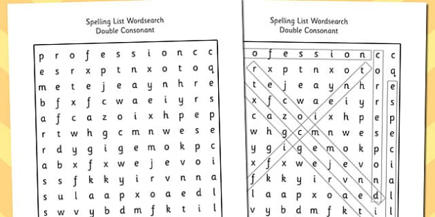 5 letter words with double letters year 5 6 spelling list wordsearch consonant spelling 16320