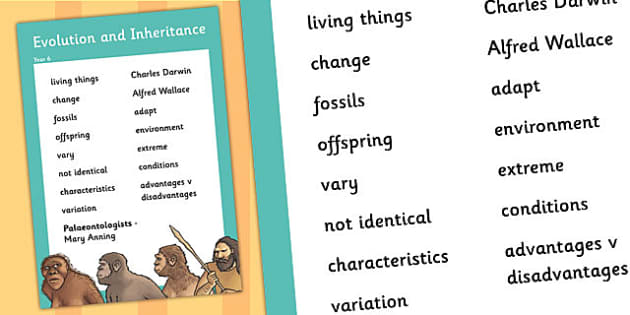 Evolution and Inheritance - Year 6 Science Resources - Page 1