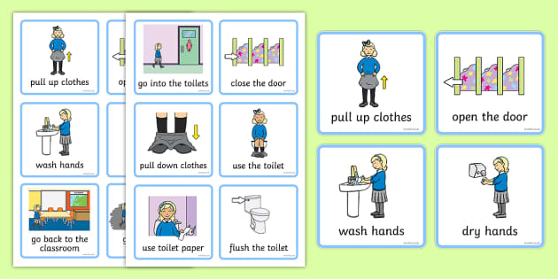Visual Timetable Using The Toilet Girls How To Use The