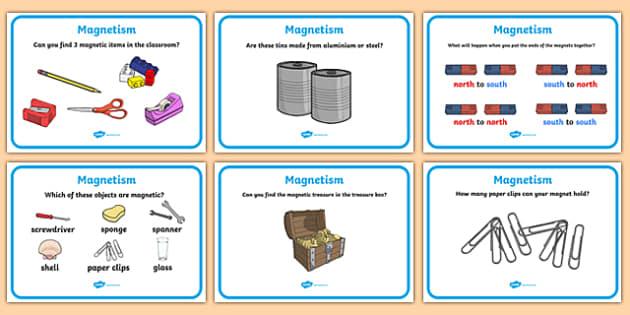 Magnetism Challenge Cards Magnet magnets magnetic – Magnetism Worksheet