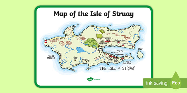 Isle Of Struay Map Map of the Isle of Struay Large Display Poster to Support Teaching  Isle Of Struay Map