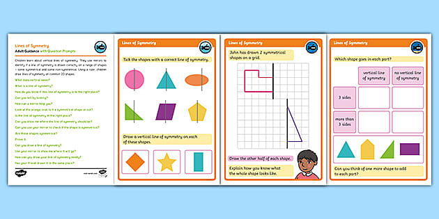 Free Symmetry Colouring Activity Worksheet Maths Resource Twinkl
