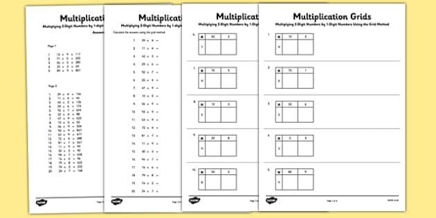 Multiplying 2 Digit Numbers By 1 Digit Numbers Using Grid Method