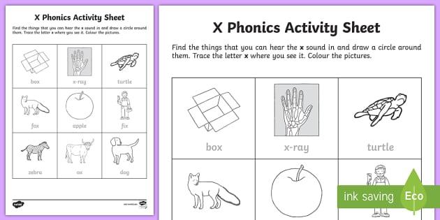 x Phonics Worksheet