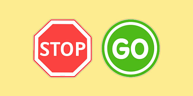 Stop And Go Road Signs Teacher Made