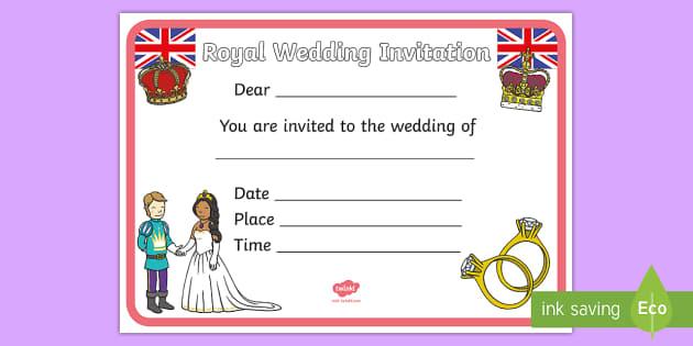 Design a Royal Wedding Invitation Royal Wedding The Royal