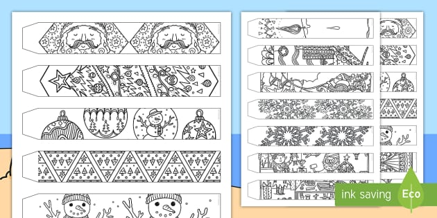 Christmas Mindfulness Colouring Paper Chain (teacher made)