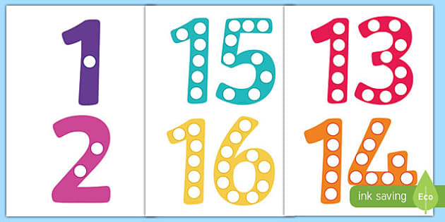 This is a photo of Peaceful Printable Numbers 1 20