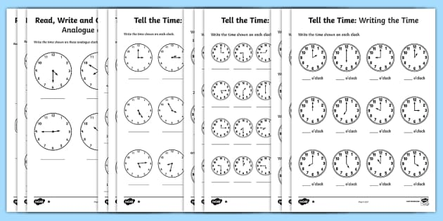 tell the time differentiated worksheet activity sheets maths. Black Bedroom Furniture Sets. Home Design Ideas