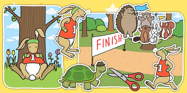 The Tortoise And The Hare Story Cut Outs Cutout Story Books