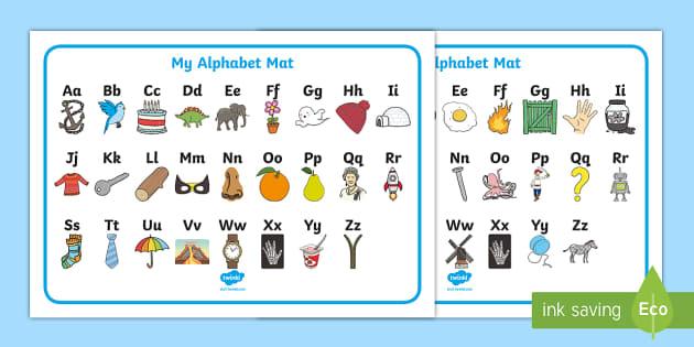 A Z Alphabet Upper And Lower Case Word Mat Australia