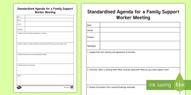 meeting planning template