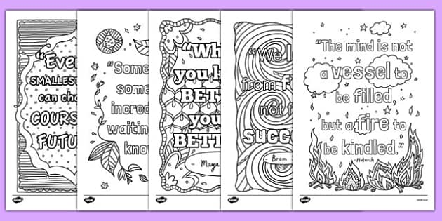 Quotes About Mindfulness Best Classroom Inspiration Quotes Mindfulness Colouring Sheets