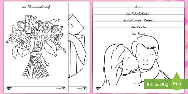 Valentinstag Ausmalbilder Valentinstag Herz Liebe Ausmalen Malen