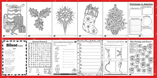 German christmas worksheets ks2