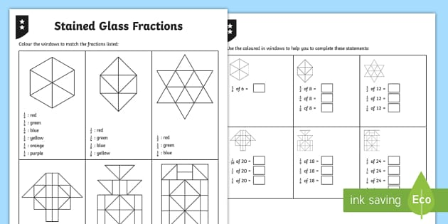 4th Class Colouring Fractions Of Shapes Differentiated