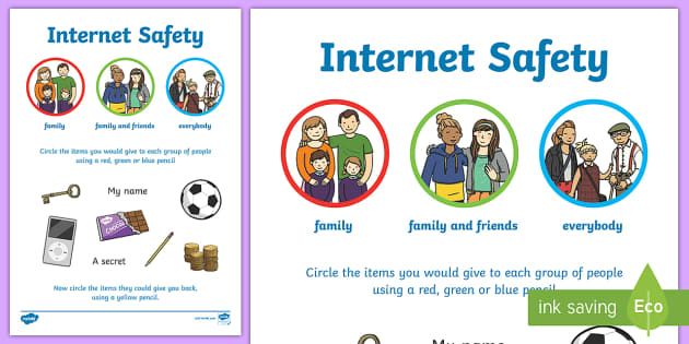 Internet safety privacy worksheet activity sheet internet for Internet safety coloring pages
