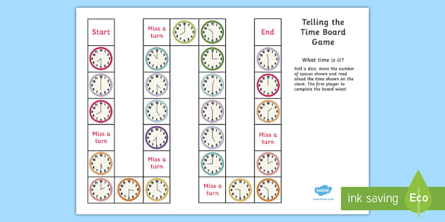 printable time telling game telling the time board differentiated ks2 clocks 5294