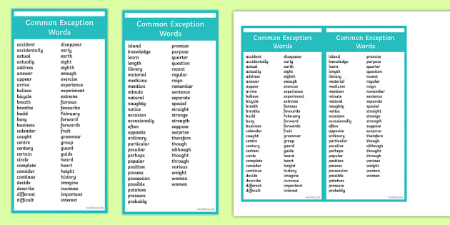 America First Repo >> Editable Common Exception Words Year 3 and 4 Bookmark - editable, common