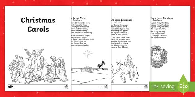 Christmas Caroling Booklet Teacher Made