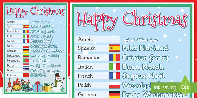 mixed language happy christmas display signs happy christmas