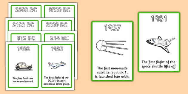 history of transport timeline cards transport a4 display. Black Bedroom Furniture Sets. Home Design Ideas
