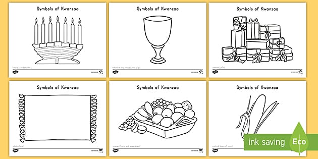 us t a symbols of kwanzaa coloring pages ver 1