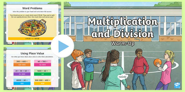 Year 5 Multiplication and Division Maths Warm-Up PowerPoint