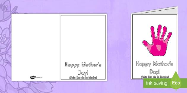 Handprint greetings cards mothers day us englishspanish m4hsunfo
