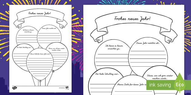 Frohes Neues Jahr Arbeitsblatt - Frohes Neues Jahr, Frohes Neues