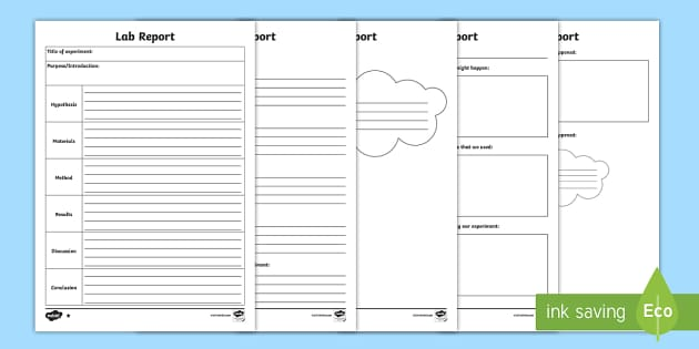 Science Lab Report Differentiated Writing Template  Cfe