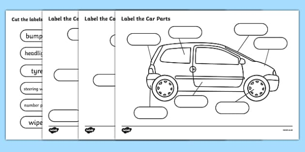 Free  - Label The Car Parts