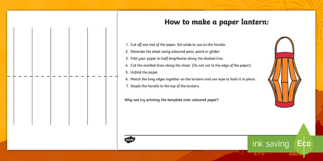 How To Make A Paper Lantern Craft Instruction Sheets How To Make