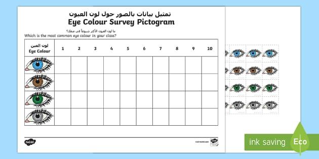 Eye colour survey pictogram arabicenglish eye colour survey ccuart Choice Image
