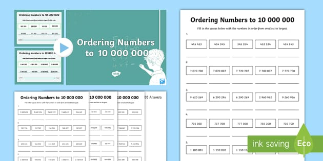 Year 6 Numbers to 10,000,000 Lesson 4 Teaching Pack - numeracy