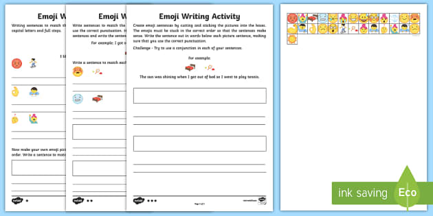 emoji sentence writing differentiated worksheet worksheets writing frame. Black Bedroom Furniture Sets. Home Design Ideas