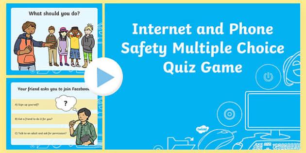 FREE! - Internet Safety Quiz For Children - Teaching Resources