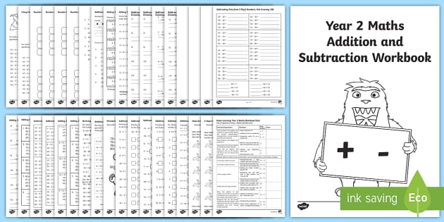 fe2a86169d607 Year 2 Maths Addition and Subtraction Workbook