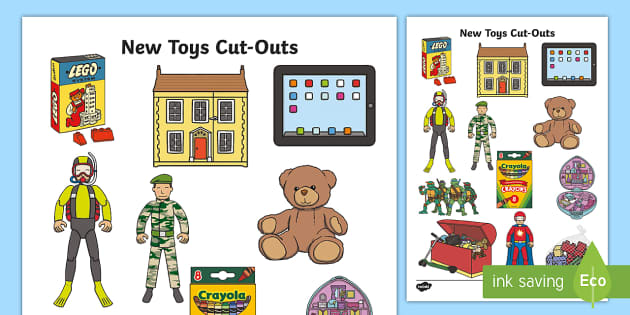 Toy Money Cut Outs : New toys cut outs out display role