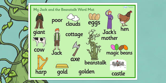 Jack and the Beanstalk Word Mat - Jack and the Beanstalk, word