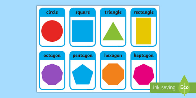 photo relating to Shape Bingo Printable named 2D Form Bingo Pack