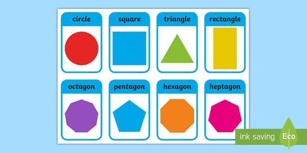 picture regarding Shape Bingo Printable identified as 2D Form Bingo Pack